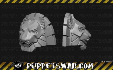 Lion Sci-Fi Shoulder Pad