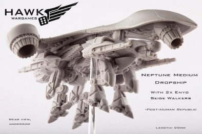 Neptune Medium Dropship with Enyo Siege Walkers