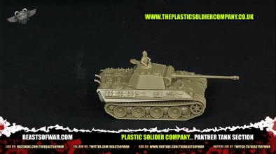 Plastic Solider Company... Panther Tank Section