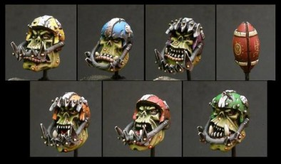 Puppets War - Painted Orc Heads