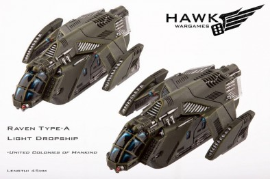 Raven Type-A Light Dropship - United Colonies of Mankind