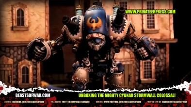Unboxing the Mighty Cygnar Stormwall Colossal for Warmachine!