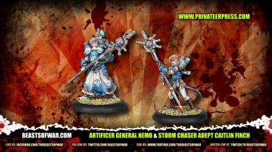 Artificer General Nemo & Storm Chaser Adept Caitlin Finch Unboxed