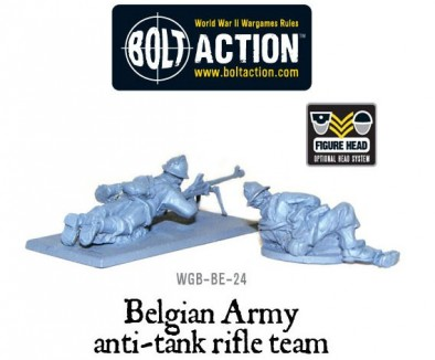 Bolt Action Belgian Army Anti-Tank Rifle Team (Rear)
