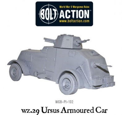 Bolt Action wz.29 Ursus Armoured Car (Rear)
