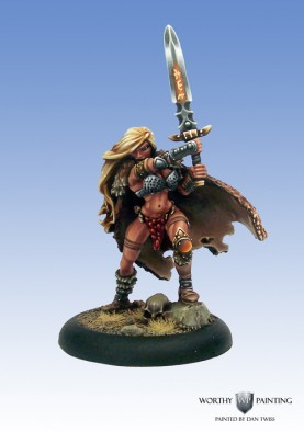 Cool Mini or Not - Female Barbarian with Sword (Front)