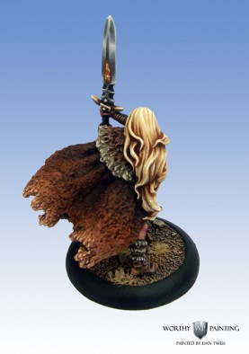 Cool Mini or Not - Female Barbarian with Sword (Rear)
