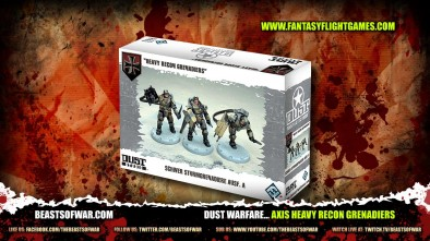 DUST Warfare... Axis Heavy Recon Grenadiers