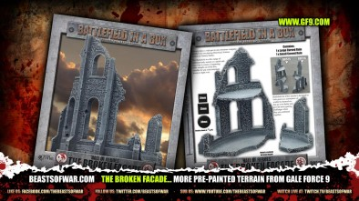 The Broken Facade... more pre-painted terrain from Gale Force 9