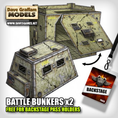 Battle Bunkers x2 Free for Backstage Pass Holders on Beasts of War