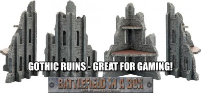 Battlefield In A Box Gothic Ruins - Great for Gaming!