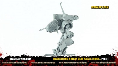 Magnetising a Heavy Gear Naga Strider... Part 1
