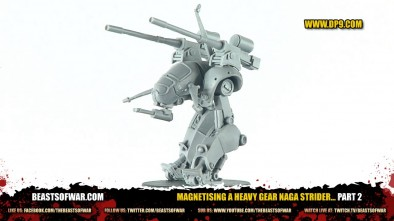 Magnetising a Heavy Gear Naga Strider... Part 2