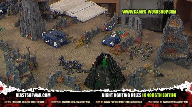 Night Fighting Rules in 40K 6th Edition