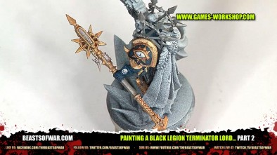 Painting a Black Legion Terminator Lord... part 2