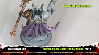 Painting a Black Legion Terminator Lord... part 4