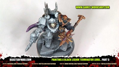 Painting a Black Legion Terminator Lord... part 5