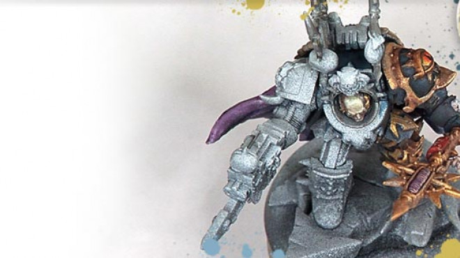 Painting a Black Legion Terminator Lord… part 5