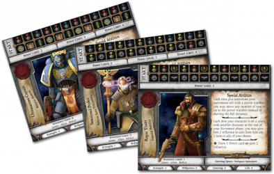 Relic Character Sheets