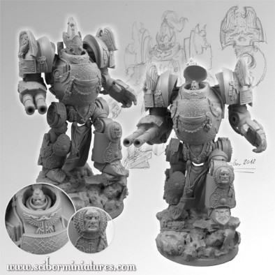 28mm SF Roman Gladiator Mech Suit