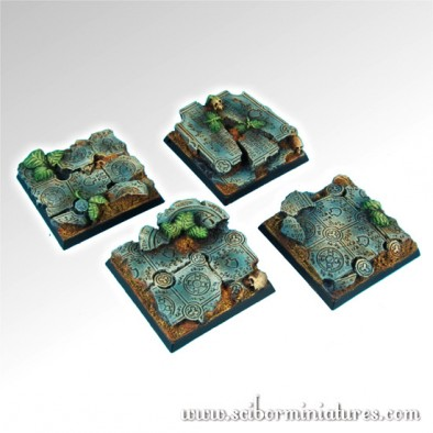 40mm Ruins Square Bases