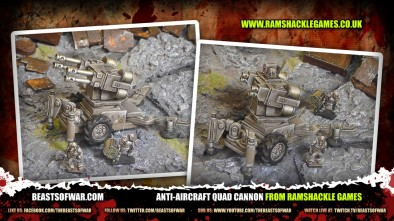 Anti-Aircraft Quad Cannon from Ramshackle Games
