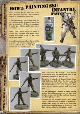 Dust Chronicles Painting SSU Infantry
