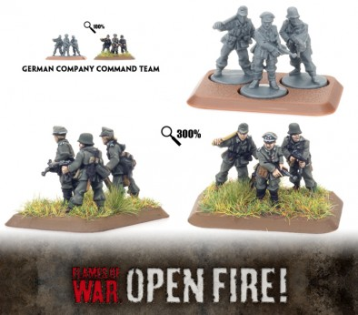 Flames of War - German Company Command Team