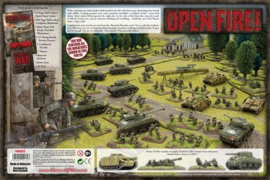 Flames of War - Open Fire! Box Contents