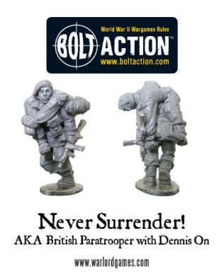Free Never Surrender! Promotional Miniature