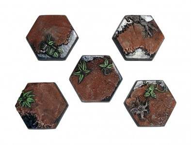 Jungle Hex Bases (Painted)