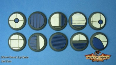 Sector Alpha Round Lip 30mm Bases