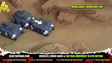 Vehicles, Cover Saves & Tactical Movement in 6th Edition