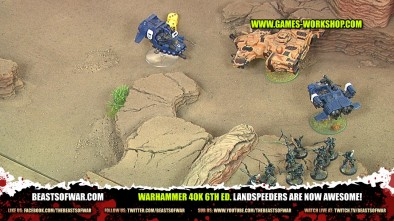 Warhammer 40K 6th Ed. Landspeeders are now Awesome!