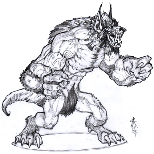 More Werewolf Concepts for Kings of War - Beasts of War