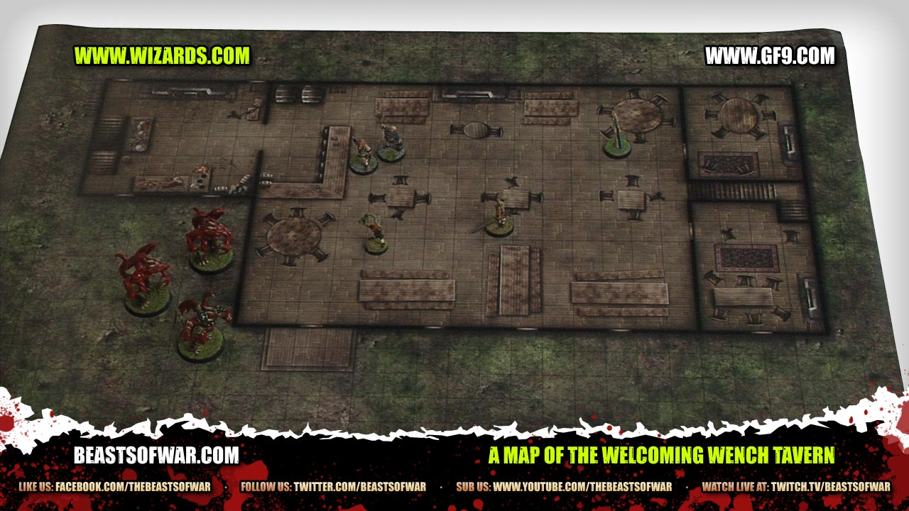 A Map of the Welcoming Wench Tavern – OnTableTop – Home of Beasts D Tavern Map on