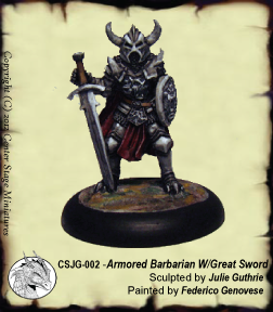 Armoured Barbarian with Great Sword