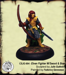 Elven Fighter with Sword & Bow