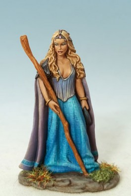 Female Mage or Druid with Staff