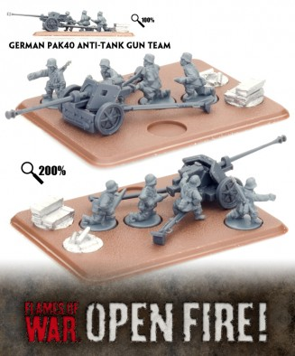 German PAK40 Anti-Tank Gun Team