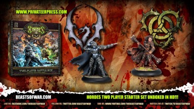 Hordes Two Player Starter Set Unboxed in HD!!!