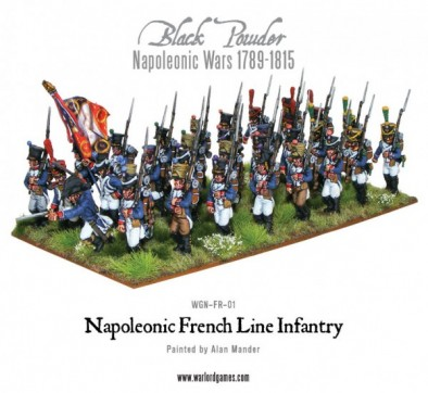 Painted Napoleonic French Line Infantry
