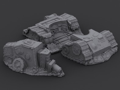 Secret Weapon Miniatures - Destroyed Tank (Alternate View)
