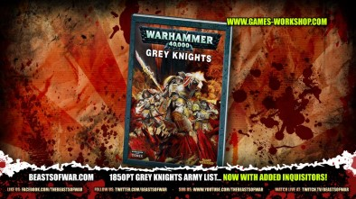 1850pt Grey Knights Army List... Now with Added Inquisitors!
