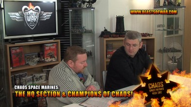 Chaos Space Marines: The HQ Section & Champions of Chaos!