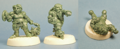 Fighter, Monk, Wounded Dwarf