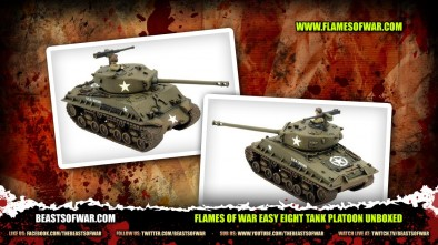Flames of War Easy Eight Tank Platoon Unboxed