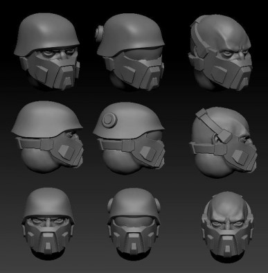 Imperial Infantry Head #1
