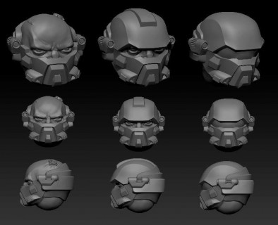 Imperial Infantry Head #2