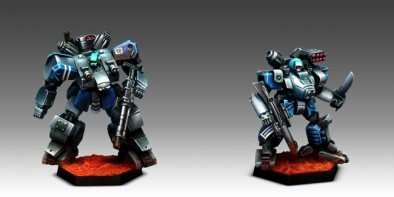 NuCoal Chevalier from Fire Support Squad and Cuirassier from Strike Squad